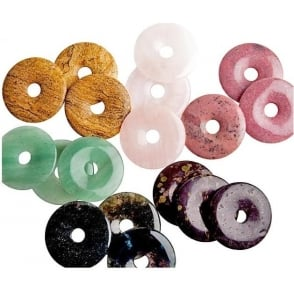 Crystals Munay Ki Pi Stone Donut 50mm (Priced EACH - Various colours) x10