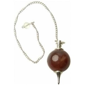 Red Onyx Sphere Dowsing Pendulum