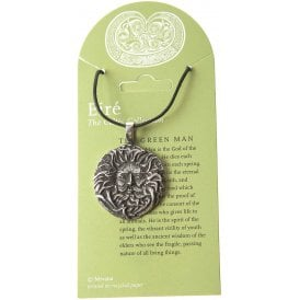 Eire The Green Man Pewter Pendant Necklace 30mm