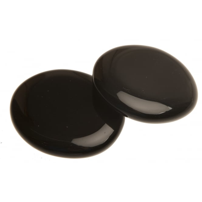 Flat Silver Sheen Obsidian Palm Stones - Removes & Protects 4cm x 5cm (M)