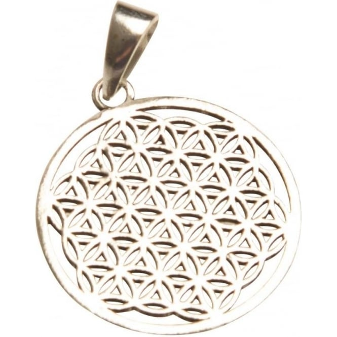 Tibetan Spirits Flower Of Life Pendant Silver-Coloured (3cm)