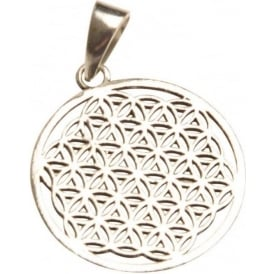 Flower Of Life Pendant Silver-Coloured (3cm)