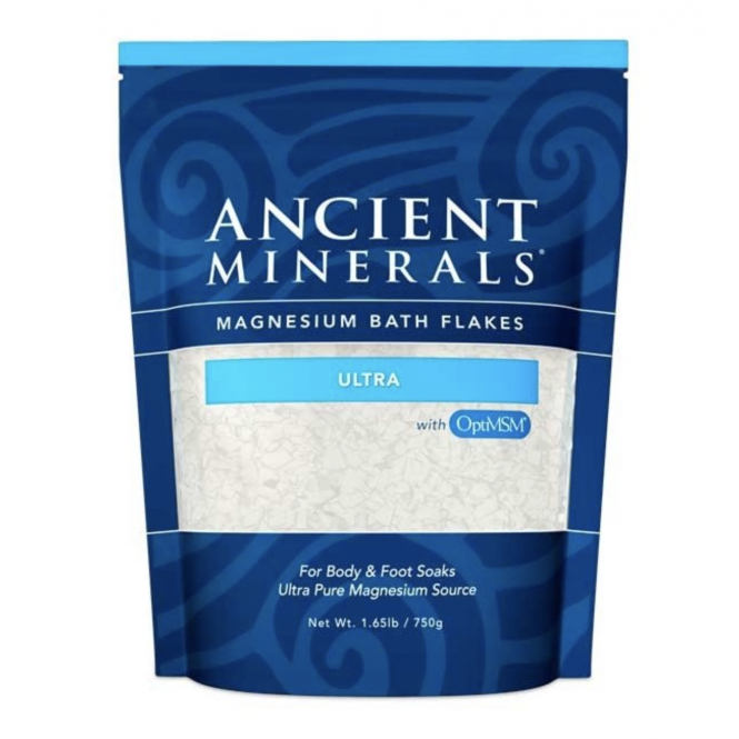 Good Health Naturally Ancient Minerals Magnesium Bath Flakes Ultra - Single Use Pouch (1.65lbs)