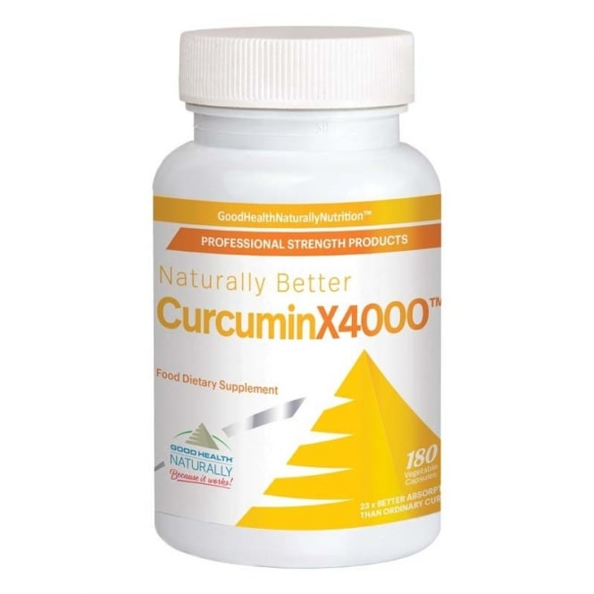 Good Health Naturally CurcuminX4000 180 Capsules