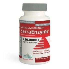 Serra Enzyme™ 250,000IU Maximum Strength – (30 Caps) Delayed Release Capsules