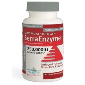 SerraEnzyme™ 250,000IU Maximum Strength – (90 caps) Delayed Release Capsules