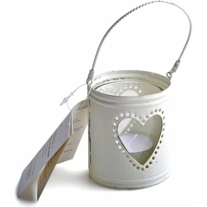 Heart Tealight Candle Holder - Cream 7-8cm