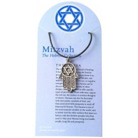Mitzvah The Hamsa Pewter Pendant Necklace 30mm