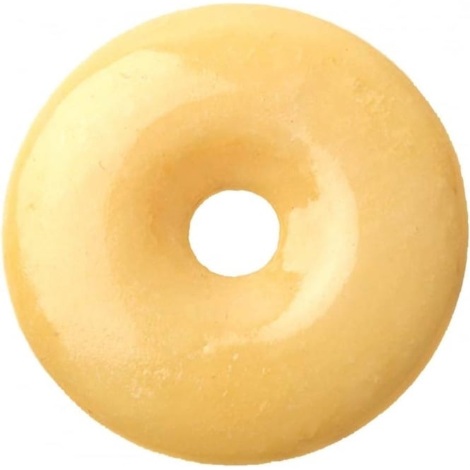 Munay Ki Pi Stone Donut - Natural Lemon Jade 50mm