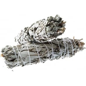 "Californian White Sage Smudge Wand 5""- 6"""