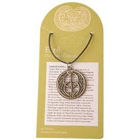 Chalice Well - Vesica Pieces Pewter Pendant 28mm