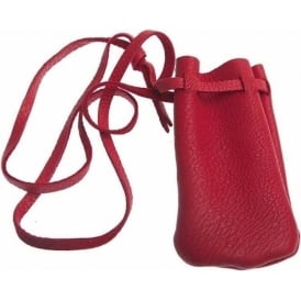 Hand Made Leather Pouch (s) Red