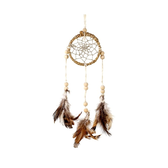 Native American Indian Natural Hemp Dream Catcher 2