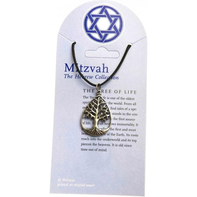 Native American Indian Pewter Tree Of Life Pendant Necklace