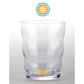 Jasmina Flower of Life 'Hand Blown' Glass - Happy 0.30cl each (with presentation box)