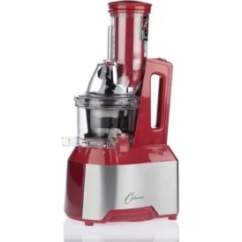OPTIMUM 600 Whole Fruit Cold Press Slow Juicer - Red - UK Plug