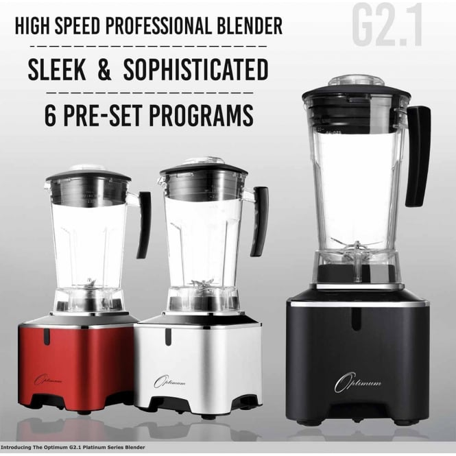 Optimum Appliances Optimum G2.1 Platinum Series Blender - Black UK PLUG