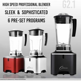 Optimum G2.1 Platinum Series Blender - Silver UK PLUG