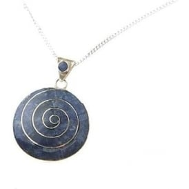 Pachamama Earth Spiral Of Life Necklace Blue