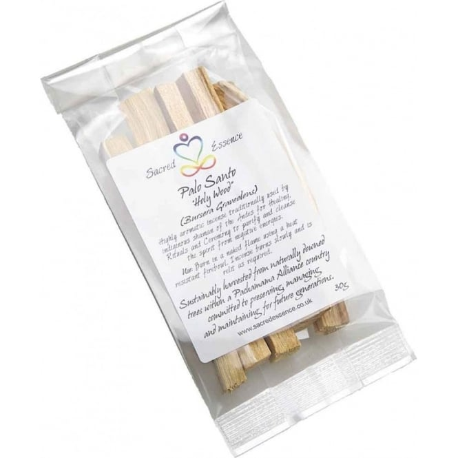 Palo Santo - Burseara Graveolens Palo Santo 30g (Sacred Holy Wood Incense Sticks) Wild Harvested