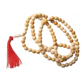 Palo Santo Wood Mala 108ct 9mm Bead Necklace - Beautiful Aroma - Clearing