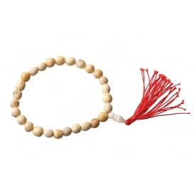 Palo Santo Wood Mala 27ct 9mm Bead Bracelet - Beautiful Aroma that Clears