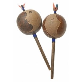 Amazon Shipibo Jungle Rattle - Moon (L) Blue (Sold individually)