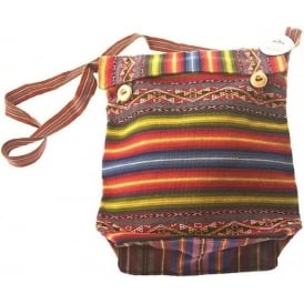 Chinchero Alpaca Bag Uni-Sex (Button Top Flap) CHIN7