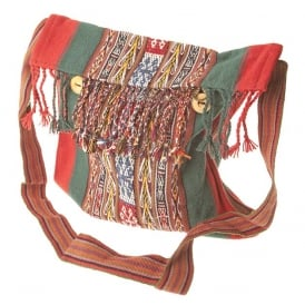 Chinchero Fine Alpaca Uni-Sex Shoulder Bag (Tassel Button Closure) CC-08