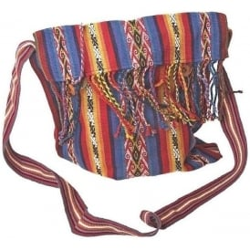Chinchero Fine Alpaca Uni-Sex Shoulder Bag (Tassel Button Closure) CC-61