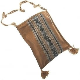 Chinchero High Quality Fine Brown Alpaca Shoulder Bag Uni-Sex (CC-10)