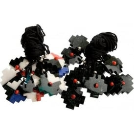 Peruvian Inka Stone Chacana Necklace S Multi Colour-Black/White