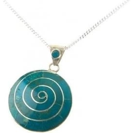Pachamama Earth Spiral Of Life Necklace Green
