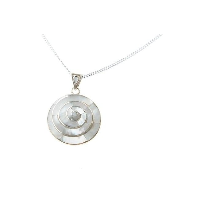 Peruvian Pachamama Earth Spiral Of Life Necklace White