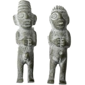 Pachamama / Pacha Tata Held In Union Figurine Bronzed (Two Sided) L