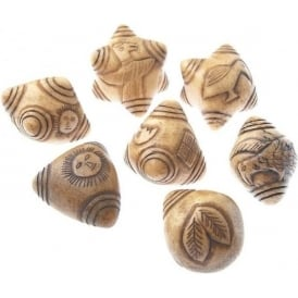 Qero Ceremonial Chumpi Stone Set Natural 7 Piece (LARGE-STD)