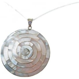 Peruvian Silver & Mother of Pearl Silver Pachamama Spiral