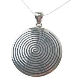 Peruvian Solid Silver Pachamama Disc