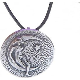 Pewter Luna Earth Mother Pendant Necklace