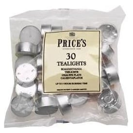 High Quality White Tealights 30 Pack (Burn Time 4.5hrs)