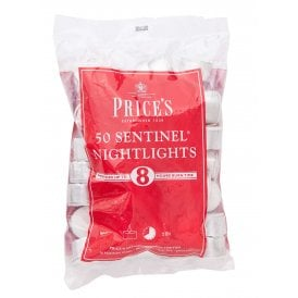 Price's High Quality White Tealights 50 Pack (Up to 8 hrs)