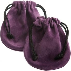 Purple Velvet Pouch 50mm-70mm (Sold Individually)