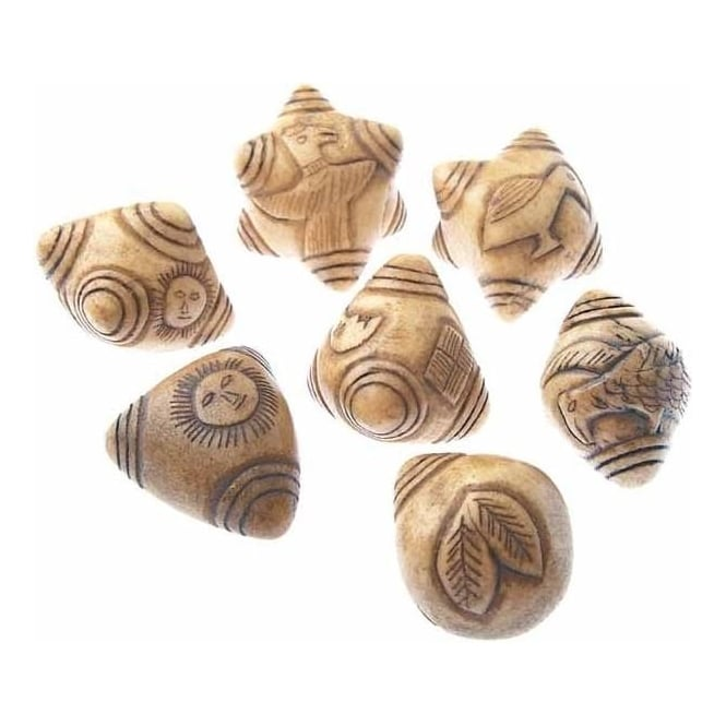 Qero Shamans Baby Chumpi Stone Set Natural 7 Piece (XS)