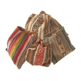 Q'ero Shaman Chuspa Medicine Pouch (Varied - Earth Tones, Sold Indvidually)
