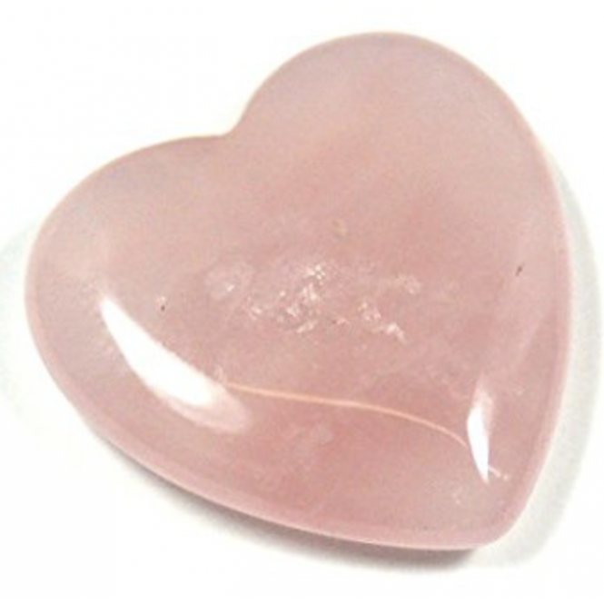 Rose Quartz Heart (Approx 3cm x 2.5cm x 1cm)