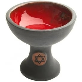 Chalice Incense Burner Black & Red (12cm)