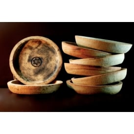 Rustic Fired Round Incense Offering Dish (17cm)