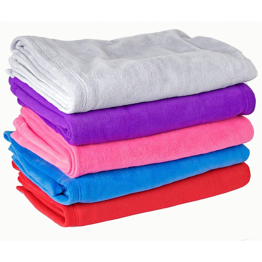 thick soft fleece blanket silver - Fleece Throws