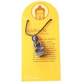 Dharma Buddha Pewter Pendant Necklace 35mm
