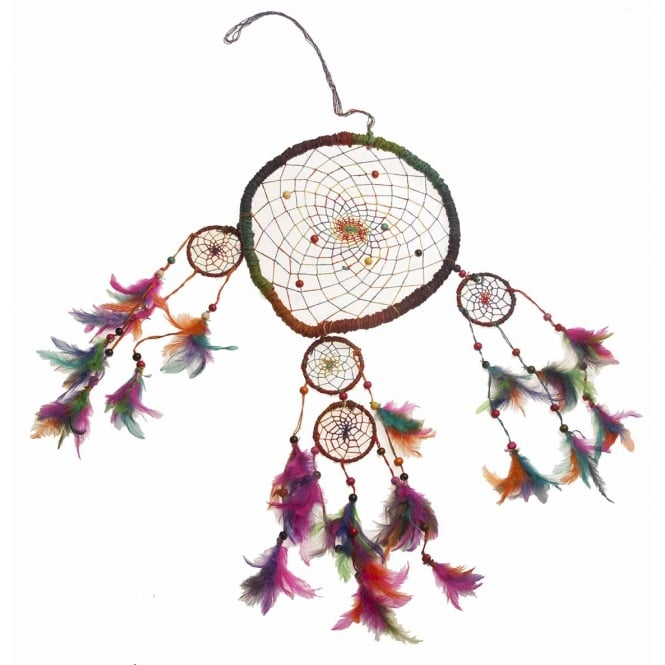 Tibetan Spirits Hemp Rainbow Wind Chime Dream Catcher 9